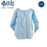 Одежда женщин кофточки длинних втулок способа рубашки хлопка изготовления на заказ вскользь
