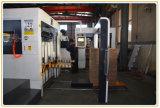 Halb-Selbstkarton-Pappe-flache faltende und stempelschneidene Maschine