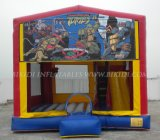 Gefrorenes Inflatable Moonwalk Bounce House für Kids, Art Panels Inflatable Combo nach USA