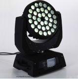 testa mobile 6in1 LED della lavata UV dello zoom di 36*18W RGBWA