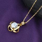 人工的な女性の宝石類のネックレスをめっきする熱い販売の優雅なイエロー・ゴールド