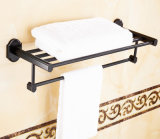 Barra di tovagliolo del bagno degli accessori della stanza da bagno, guida di tovagliolo Heated, cremagliera di tovagliolo di alluminio di triplo della stanza da bagno dello spazio nero