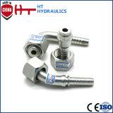 Connecteur hydraulique d'ajustage de précision de pipe d'embout de durites de Bsp BSPT Jic