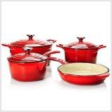 南アフリカ共和国のエナメルの三本足のPotjieの鍋