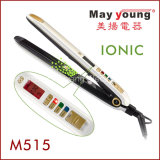 Straightener negativo do cabelo dos íons do indicador por atacado do LCD do calefator do MCH