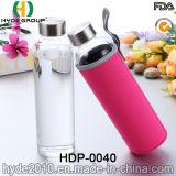 De aangepaste Fles van het Water van het Glas BPA Vrije Hoge Borosilicate, de Thee van het Glas/de Fles van het Water van het Sap (hdp-0040)