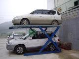 톤 유압 Gg 상표 세륨은 2 차 자동 차량 주차 상승 또는 엘리베이터를 가위로 자른다