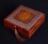Boîte de rangement en bijoux en bois de luxe en grains