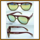 Nuovo disegno Woodenl Sunglass con l'obiettivo rispecchiato (FX15063)