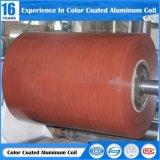 0.02-3mmの厚さPE/PVDFのコーティングが付いている木の塗られたアルミニウムコイル