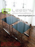 Tabella nera quadrata del centro di vetro Tempered di Painitng su acciaio inossidabile
