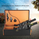 Personnalisé de conception nouvelle boîte de vin en cuir de luxe avec des accessoires