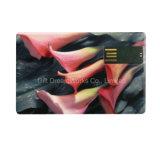 Lecteur Flash USB de carte de crédit avec impression couleur pour afficher votre entreprise