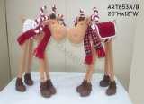 Fleece Standing Candy Moose Home Decoration-2 Asst