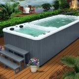 Pool und BADEKURORT Swimmingpool BADEKURORT mit mehrfachem Rest-Bereich für Garten