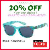 Óculos de sol de venda superiores do miúdo do material plástico