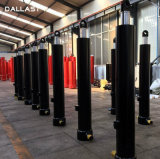 Cilindros telescópicos de vários estágios do petróleo hidráulico do pistão da grua do reboque do caminhão de descarga