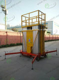 150kg de capacidade de carga de ligas de alumínio hidráulico de elevação vertical