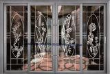 탄화불소 회색 색깔 실내 알루미늄 단면도 미닫이 문 입구 문