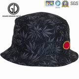 Classic Big Brim Sublimation Leaves Printing Cotton Bucket Hat