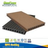 Круглое отверстие калибруя полый деревянный Decking текстуры WPC