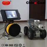 Prueba de explosiones de vídeo submarino el sistema de cámara del robot de inspección de tubos