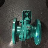 Forro de flúor La válvula de bola utilizada en el medio corrosivo