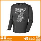 Long T-shirt de sport de la chemise des hommes