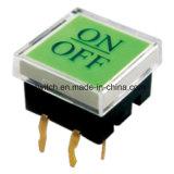 Spst momentané sur le bouton lumineux hors micro interrupteur tactile