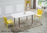 Prorrogação de venda quente MDF branco do mobiliário de madeira sólida, mesa de jantar