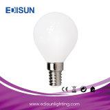 LED de poupança de energia da luz da lâmpada leitoso G45 E27/E14