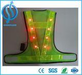 Hohe sichtbare Sicherheits-Weste des Verkehrs-LED