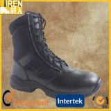 ジッパーが付いている黒く完全な革安全靴の軍の戦闘用ブーツ