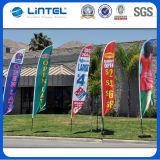 品質展覧会の表示羽はフラグを付ける安い旗竿(LT-17C)