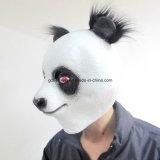 Máscara linda del animal de la panda de Víspera de Todos los Santos de la cara llena del látex