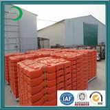 Пластичная бетонная плита для временно загородки