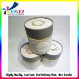 Logotipo personalizado de luxo impresso papel redonda pequena caixa de jóias