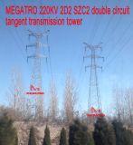 Doppia torretta della trasmissione di tangente del circuito di Megatro 220kv 2D2 Szc2