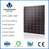 TUV ISO het Zonnepaneel van Ce Poly 250watt voor Cheap Price en 10 Years Quality Warranty From Professional Jiangsu Factory