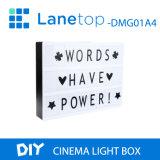 LED à film de cinéma lumière la case A4