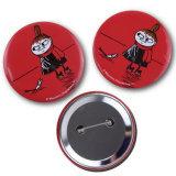 La moda de metal personalizados Botón chica rojo insignia como regalo de promoción de estaño (016)