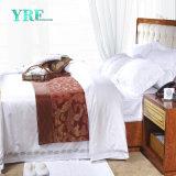 Insieme di camera da letto dell'assestamento dell'hotel di Setscotton del lenzuolo del ricamo 4PCS