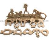 OEM Animal en bois jouet Bébé en forme de mâcher Anneau de dentition