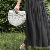Umweltfreundliche handgemachte Qualitäts-halber Mond-Frauen-Bambushandtasche