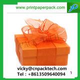 Delicado diseñado Día de la madre presente Cuadro de papel de embalaje de regalo con cinta Bowknot Mooncake Festival Pastel de casillas de verificación