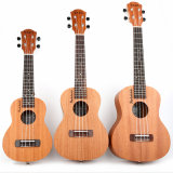 """하와이 23의 """" Sapele 청각적인 우쿨렐레, 4개의 끈 기타, 작은 기타"""