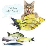 Giocattolo del gatto del prodotto del rifornimento della peluche dei pesci del Catnip del giocattolo dell'animale domestico