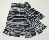 100%Acrylic guanti lavorati a maglia barretta mezza (HY17103035)