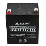 Batería de plomo ácido regulado de la válvula de la luz de emergencia (12V4AH)