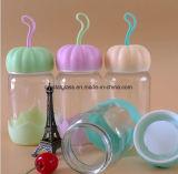 Design bonito copo de vidro de água com tampa de formato de abóbora